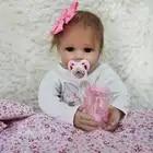 OtardDDolls Reborn 20 50CM bebe bebe Weiche Silikon Reborn Baby Puppen Vinyl Spielzeug Puppen Für Mädchen Alten Baby puppen Mit Rosa Tuch - 5