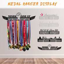 Sport Medailles Houder Medaille Hanger Magazijnstelling Inspirational Decor Swim Running Rijden Concurrentie Medaille Display Organizer Rack(China)