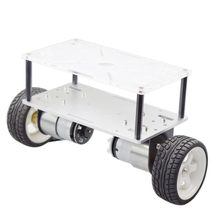 Cheaspest Double Chassis Arduino 2WD Self Balancing Robot Car Kit with 2pcs Encoder Motor for Raspberry Pi DIY STEM Toy Parts