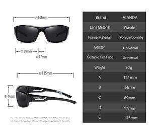 Image 2 - VIAHDA ブランドデザイン新偏光サングラス男性スポーツアウトドアサングラス男性駆動眼鏡 Gafas