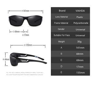 Image 2 - VIAHDA lunettes de soleil polarisées pour hommes, nouveau Design, Vintage, monture solaire Sport, dextérieur, pour la conduite
