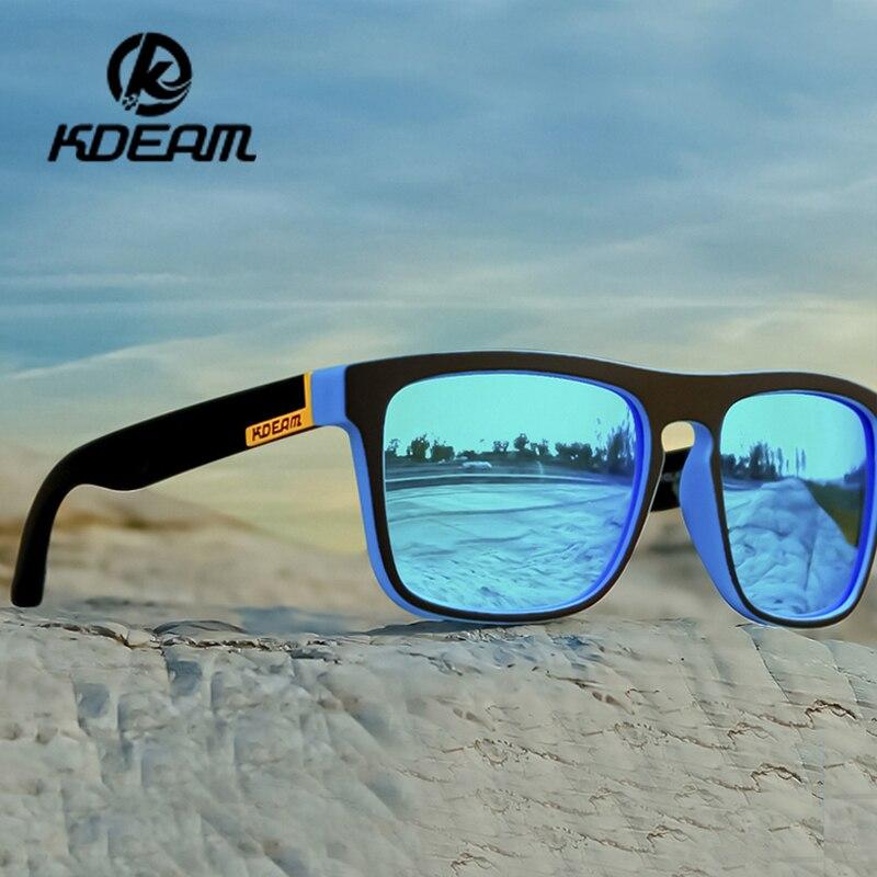 Kdeam Men Polarized Sunglasses Retro Outdoor Sport Drivng Sun Glasses Eyewear