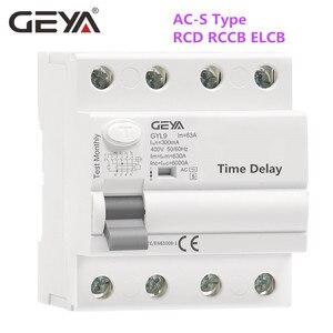 GEYA GYL9 AC-S Тип задержка времени RCD RCCB ELCB Тип задержки электромагнитный выключатель 3 фазы + N 40A 63A