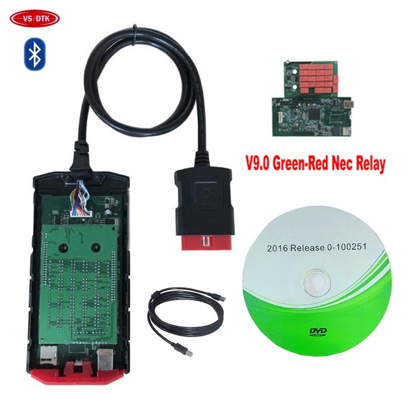 10 unids/lote DHL nuevo v9.0 PCB con bluetooth/cable USB obd escáner para delphis 2016 R0 keygen camiones de coches OBD2 herramientas de diagnóstico Nuevo adaptador Bluetooth V1.5 Elm327 Obd2 Elm 327 V 1,5, escáner de diagnóstico para automóvil para Android Elm-327 Obd 2 ii, herramienta de diagnóstico para coche