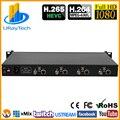 EVC 1U Rack 4 Channels SD HD 3G SDI Encoder H.265 H.264 Streaming Encoder IPTV for HD-SDI 3G-SDI to RTMP RTMPS HTTP RTSP UDP RTP