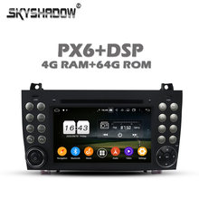 Carplay PX6 Android 10 4G + 64GB voiture lecteur DVD RDS Radio GPS carte Bluetooth 5.0 pour Benz SLK R171 SLK200 280 300 350 55 2004-2012