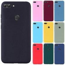 Para huawei p caso inteligente tpu macio silicone doces cor capa traseira caso do telefone para huawei p inteligente 2018 FIG-LX1 psmart caso fundas