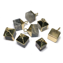 New Square Men Gems Purple Charms Pendant for Necklace Healing Point Natural Stone Pendants Jewelry Size 12x18mm
