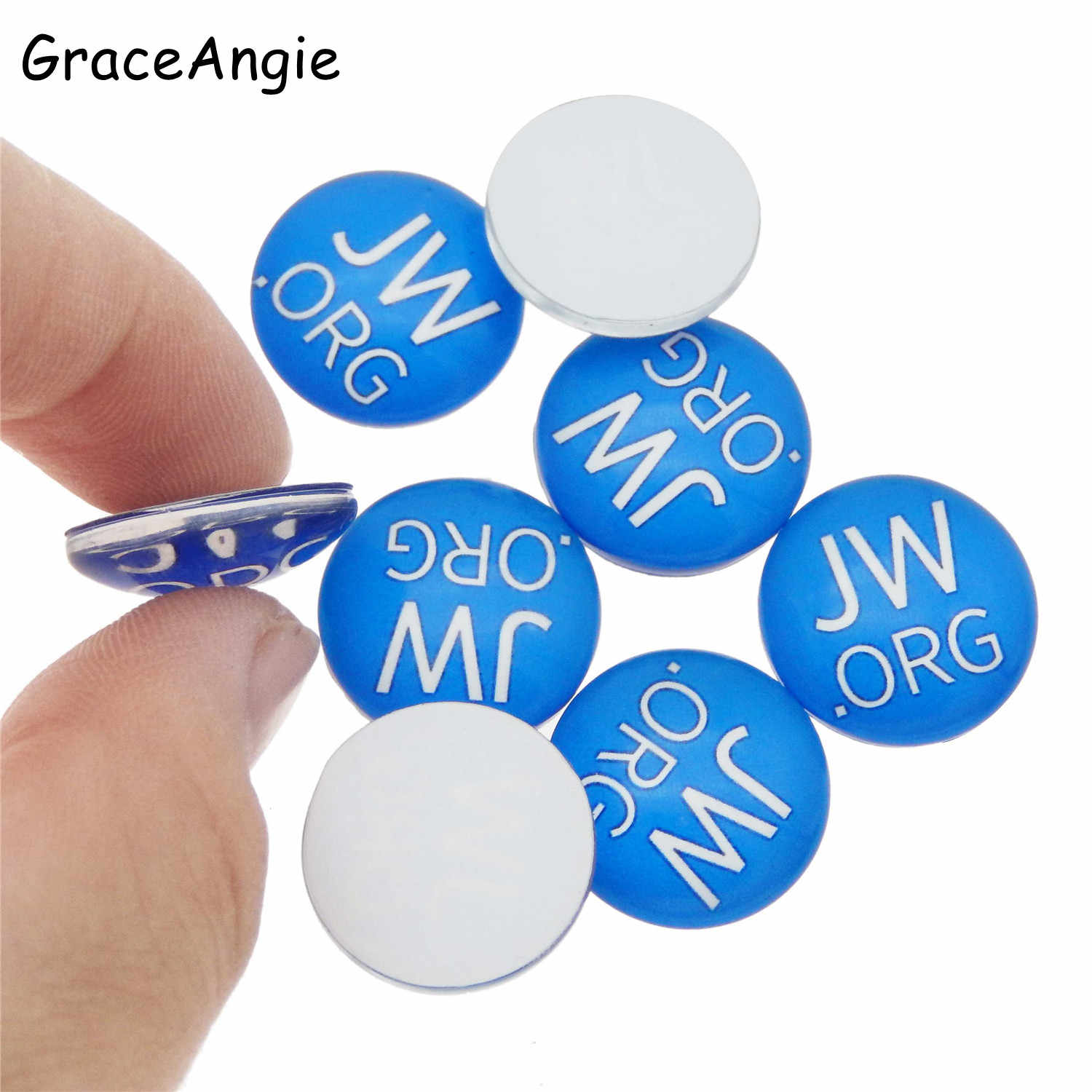 10/20/50pcs Round 10mm 18mm 25mm Glass Cabochon Charms Accessory JW org  jehovah's witnesses  glass cabochon Blue Cameo Crafts