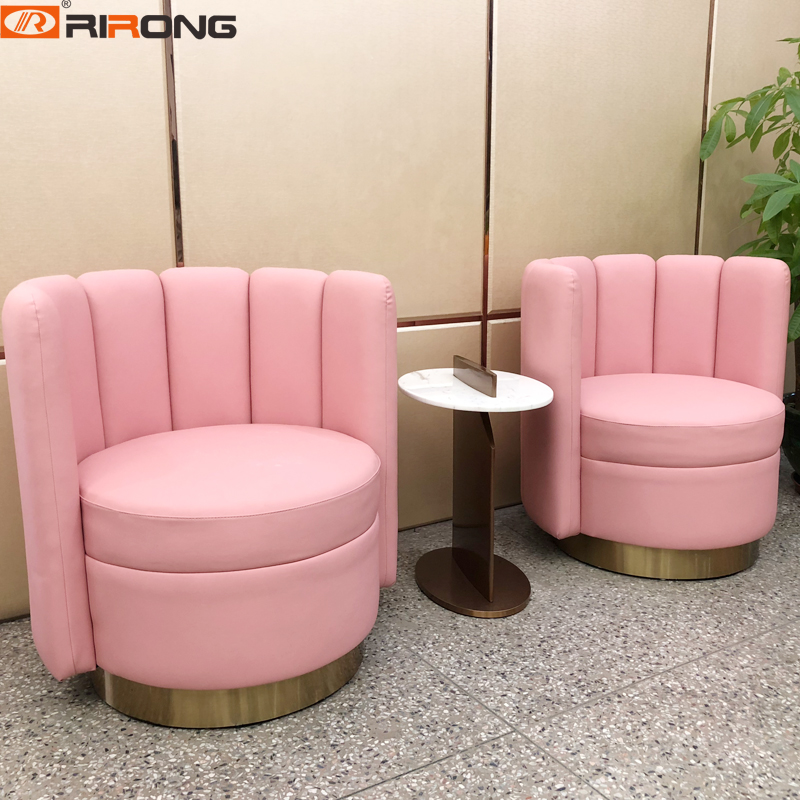 Us 365 7 Home Furniture Reception Study Roomliving Room Pink Leather Sofa Chair Couch Set On Aliexpress