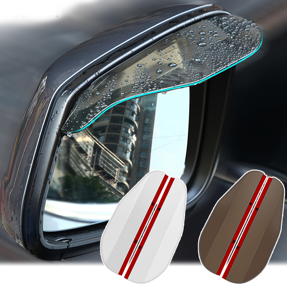 Универсальное зеркало заднего вида для автомобиля, 2 шт./пара, защита от дождя, бровей, козырек, водная защита для автомобиля, грузовика, утол...