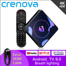 Crenova LET1PRO TV Box Atem Licht Neueste Android 9.0 System HDMI 2.0a 4K Video Unterstützung 3D Video Youtube Google Box PK A95X Box(China)