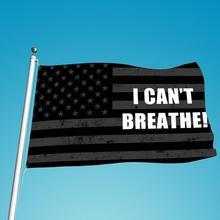 3' X 5' Ft USA Flag Banner Black Lives Matter I Can'T Breathe Durable Bunting Garlands Background Polyester недорого