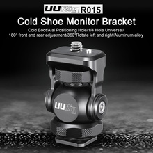 UUrig R015 Vlogger Monitor Mount Adapter Cold Shoe Ballhead Bracket Mic Holder 1/4 Screw Camera Holders Stand Adjustable