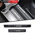 4 шт тряпочек волокно автомобильный порог защиты автомобиля стикер автомобиля аксессуары интерьера для volkswagen vw T-CROSS TCROSS