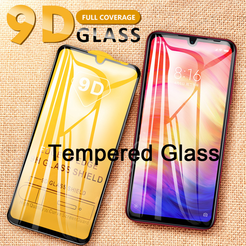 9D Black Cover Screen Protector For Xiaomi Redmi Note 7 Note 6 5 Pro Glued Tempered Glass For Redmi Note 8 Protective Glass Film