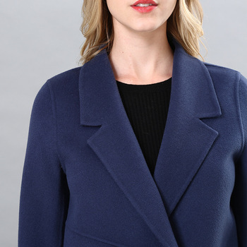 Winter 2020 New Two-Sided Plush Coat New Medium and Long Casual Double-Breasted Fashion Slim-Fitting Lapel Versatile Women's Woo