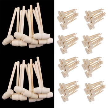 100pcs Mini Wooden Mallet Wood Hammer For Leather Craft  Stamping