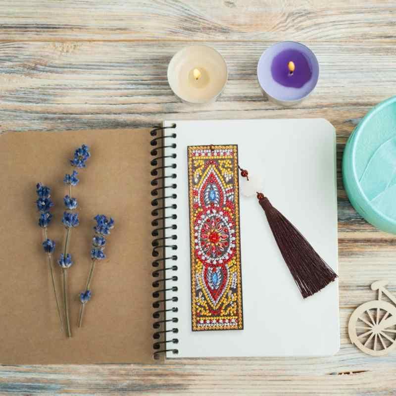 5D DIY بها بنفسك الماس اللوحة الجلدية المرجعية شرابة الإشارات المرجعية الخاصة على شكل الماس التطريز DIY بها بنفسك اليدوية اليدوية هدية