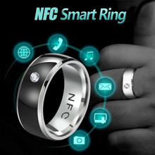 1 unidad nuevo NFC multifuncional inteligente anillo dedo desgaste inteligente anillo Digital conectar los anillos del equipo del teléfono Android