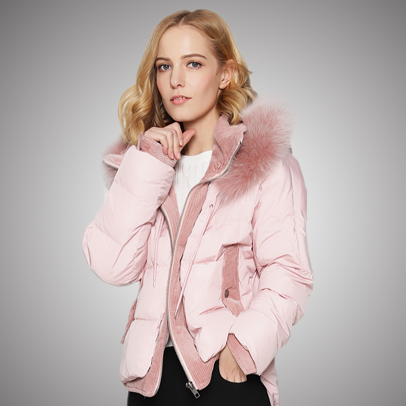 KMETRAM Real Fur Collar Down Jacket Woman Hooded 2019 Winter Jacket Women Korean Short Coat Female Warm Parka Chaqueta Mujer	MY