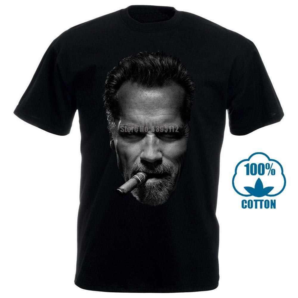 Arnold Schwarzenegger T Shirt Baru Pria Cerutu Kebugaran Binaraga Kemeja S untuk 2Xl Gratis Pengiriman dengan Harga Murah Tee 100% Cotton Tee kemeja