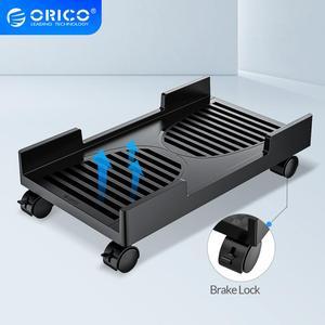 ORICO Mobile soporte de Torre ajustable para ordenador CPU carro, soporte con bloqueo de frenado soporte de ruedas para PC carcasas de ordenador