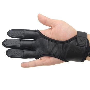 1Pc Fingers High Elastic Hand Guard Protective Archery Bow Shooting Glove for Recurve Compound Bow hunting Fit LH / RH Accessory 1