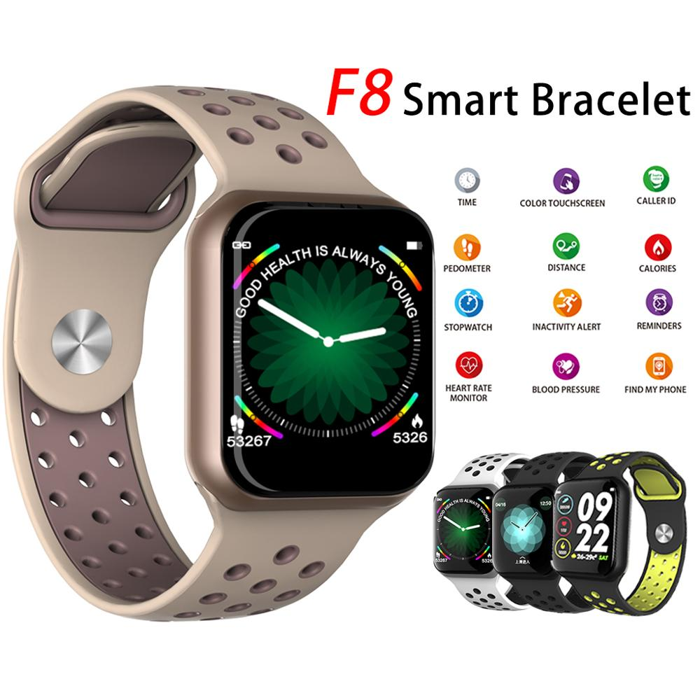 F8 Smart Watch Man Device Waterproof Pedometers Message Reminder Bluetooth Sports Smartwatch for iOS Android Phone