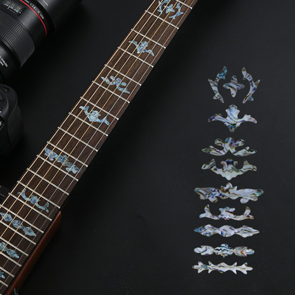 Electric Acoustic Guitar Stickers Bass Inlay Decal Ultra Thin Fretboard Sticker For Guitar Accessories Cross Inlay Decals