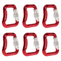 Топ!-6 шт. сплав Карабин витой автоматический крюк блокировки парапланерная Соединительная Скоба двойной замок 20Kn прямоугольная пряжка