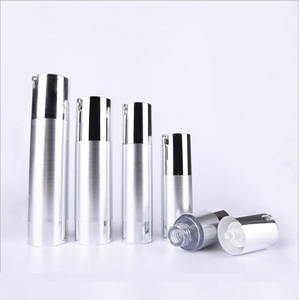 Image 4 - Botella de loción de bomba de vacío sin aire de plata UV de 50 ml con bomba de plata y base inferior utilizada para envase cosmético