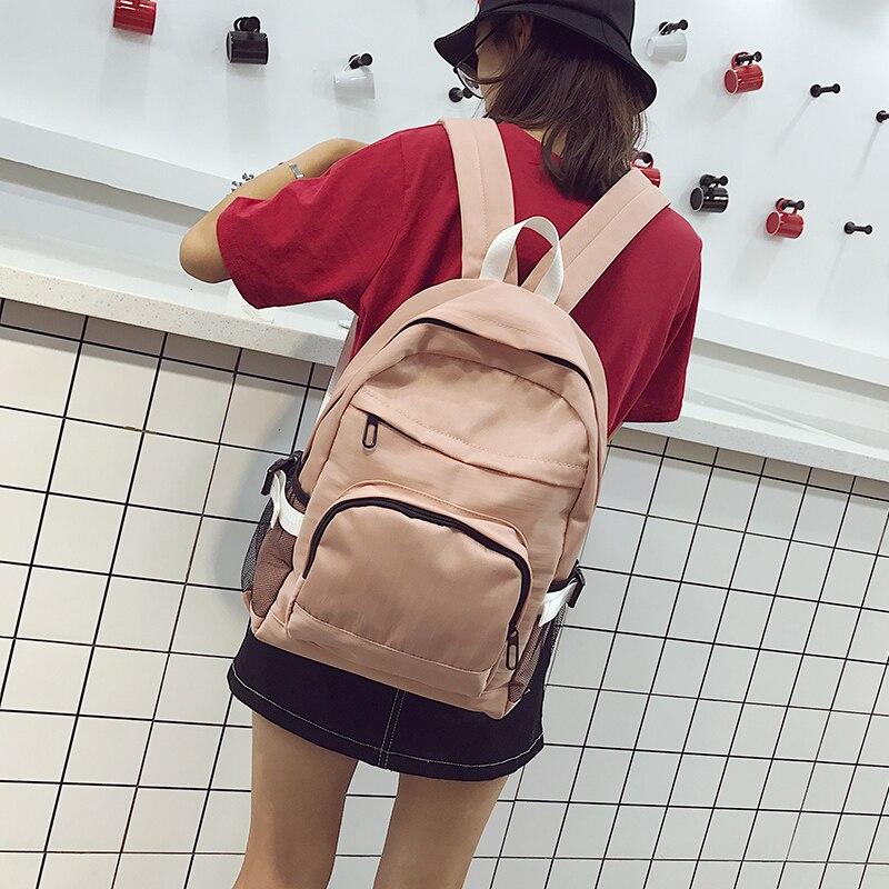 Hocodo mulheres mochila de lona cor sólida
