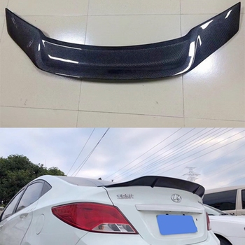FOR hyundai verna spoiler 11 12 13 14 15 Carbon fiber/FRP rear tail wing spoiler FOR hyundai Accent High quality trunk tail fin for infiniti g37 4door sedan rear spoiler wing lip car styling for g37 high quality carbon fiber rear trunk spoiler wing 2007 13