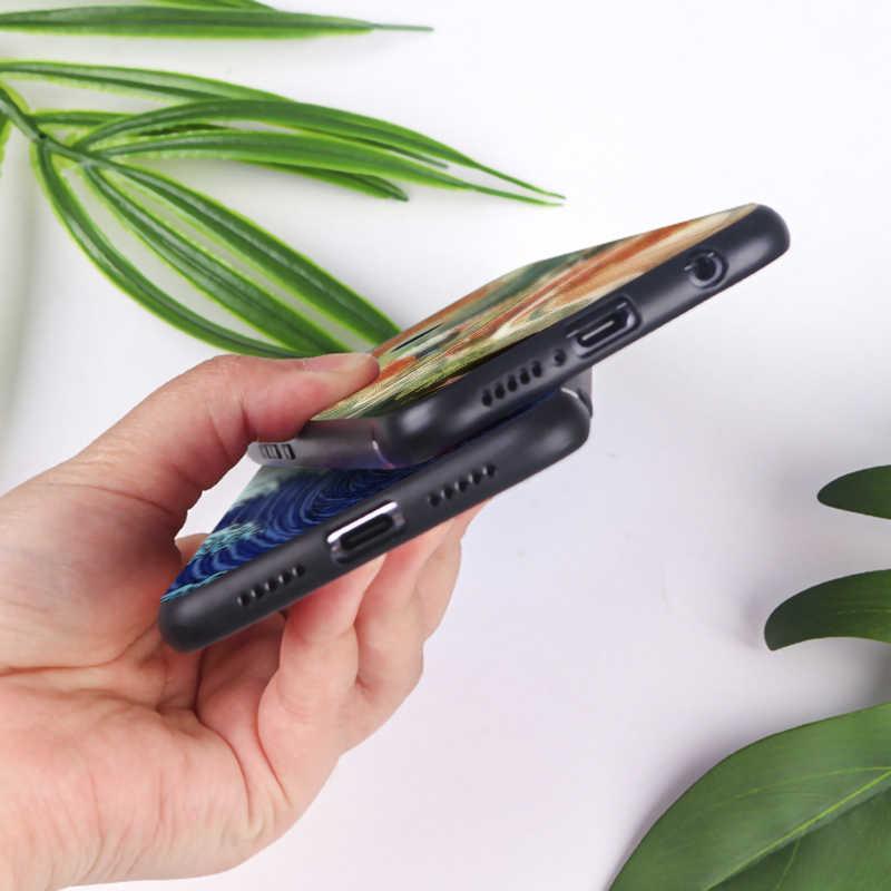 Funda de teléfono de silicona suave para huawei honor 9x pro 8x10 20 10 lite 20 pro estilo japonés arte Japón crane monte Fuji.