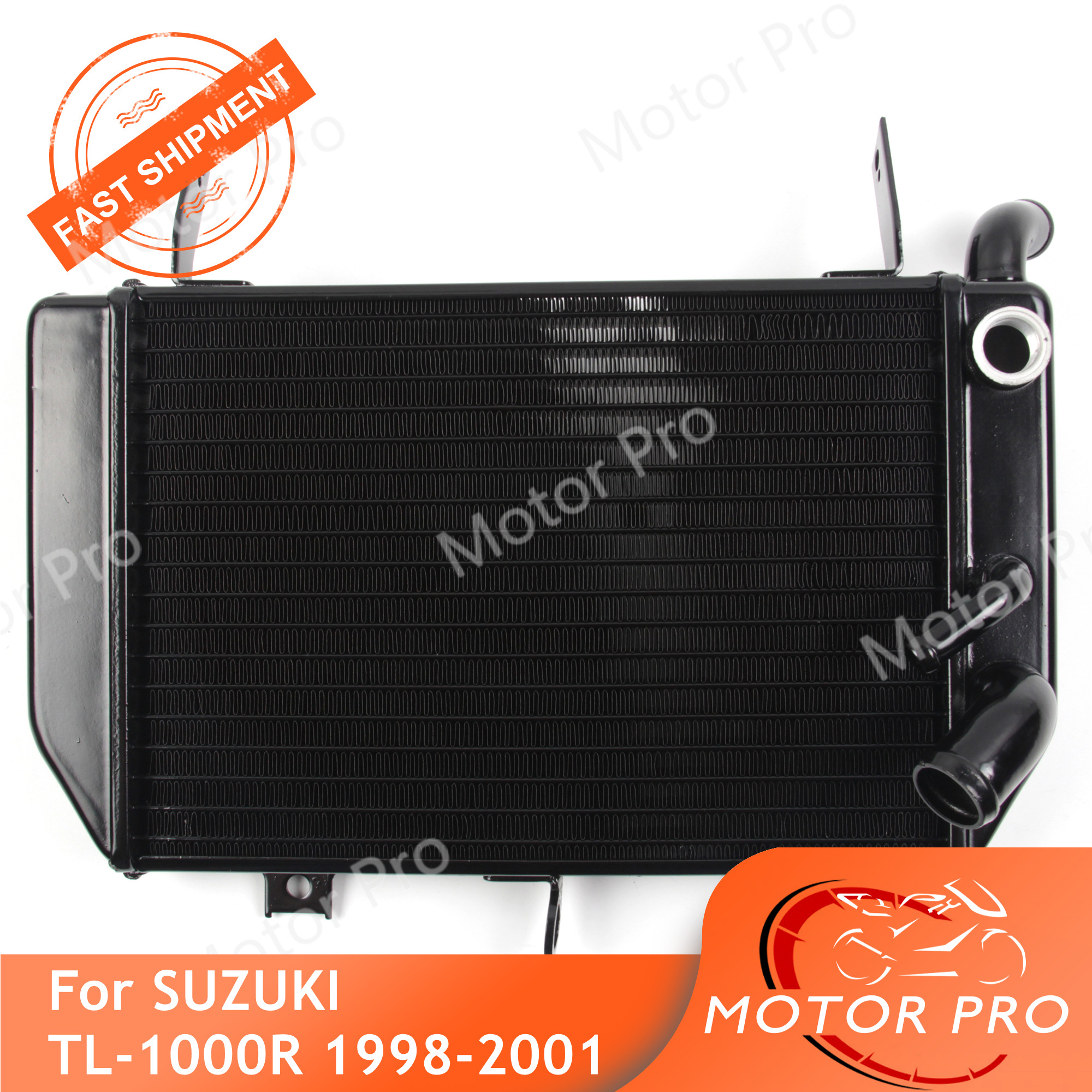 Radiator For <font><b>Suzuki</b></font> <font><b>TL1000R</b></font> 1998 1999 2000 2001 Cooling Cooler Motorcycle Accessories Replacement TL 1000 R TL1000 1000R Black image