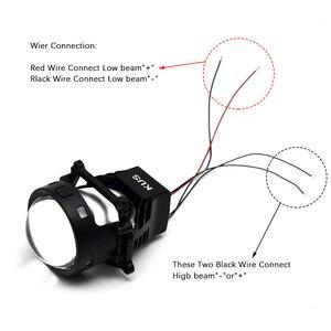 Image 5 - 3.0 cala 90W Bi obiektyw LED projektora wysoka i martwa wiązka reflektor samochodowy żarówka modernizacja modernizacja uniwersalne szybko zapalające się Car Styling