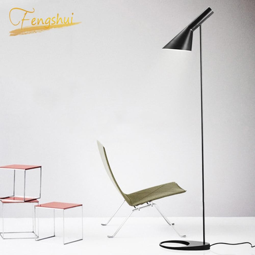 Nordic Design AJ Boden Lampe Schwarz Metall Stehend Licht Wohnzimmer Schlafzimmer Nacht FÜHRTE Dekorieren Boden Lampen Beleuchtung Luminaria
