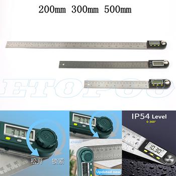 300mm 12 cal cyfrowy kątomierz linijka kątowa 200mm 8 cal celownik kątowy miernik ze stali nierdzewnej 360 stopni goniometr inklinometr tanie i dobre opinie ETOPOO NONE CN (pochodzenie) DC293