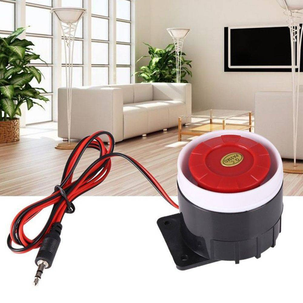 1 Pcs DC 12V Loud Wired Mini Indoor Accessory Horn Siren Home Security Sound Alarm System 120dB Piezo Buzzer Speaker Anti-theft