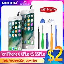 Ekran NOHON dla iPhone 6 6S LCD/wyświetlacz dla iPhone 6 6S Plus oryginalny zamiennik 3D szkło Digitizer zgromadzenie AAAA + rama