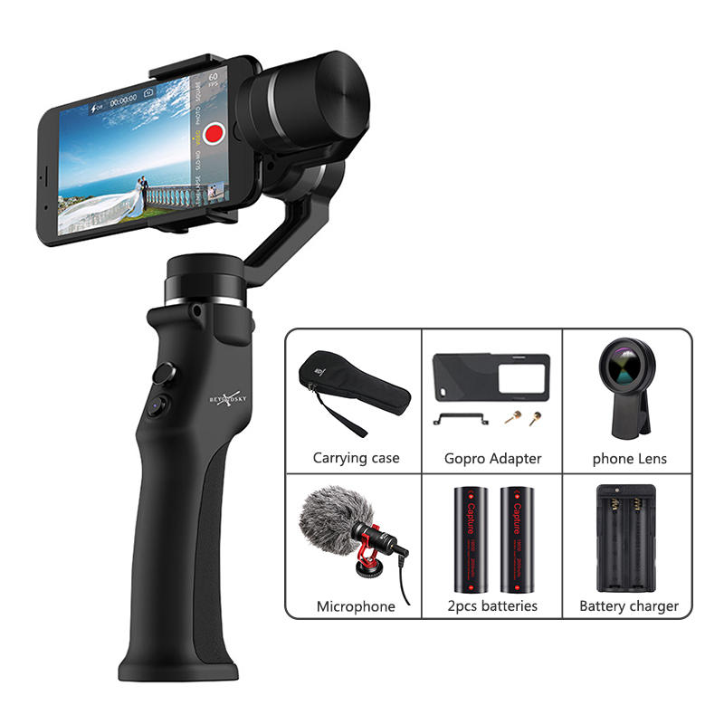 BEYONDSKY EYEMIND Cardan 3 Axes Stabilisateur Mobile iPhone Android Caméra D'action Yi Gopro Sjcam EKEN VS ZHIYUN Smooth 4