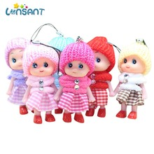 5pcs/set Mini Dolls Toy Confused Doll Princess Mini Simba Cute Baby Kelly Dolls Body Toys For Girls Children Gifts(China)