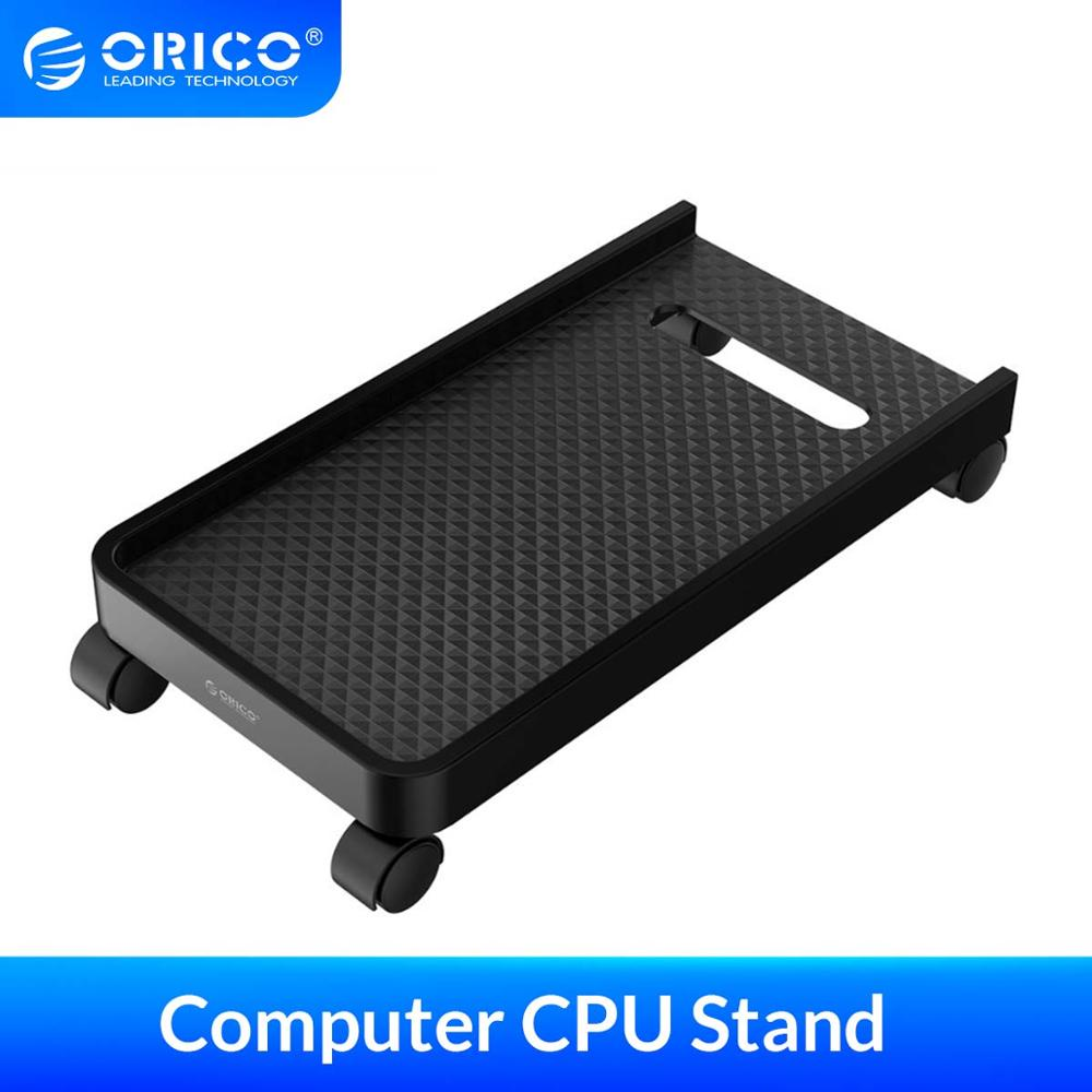 ORICO Computer CPU Stand with Wheels Stable Vertical Stand For Computer Cases PC Towers Waterproof CPU Stand Black(China)