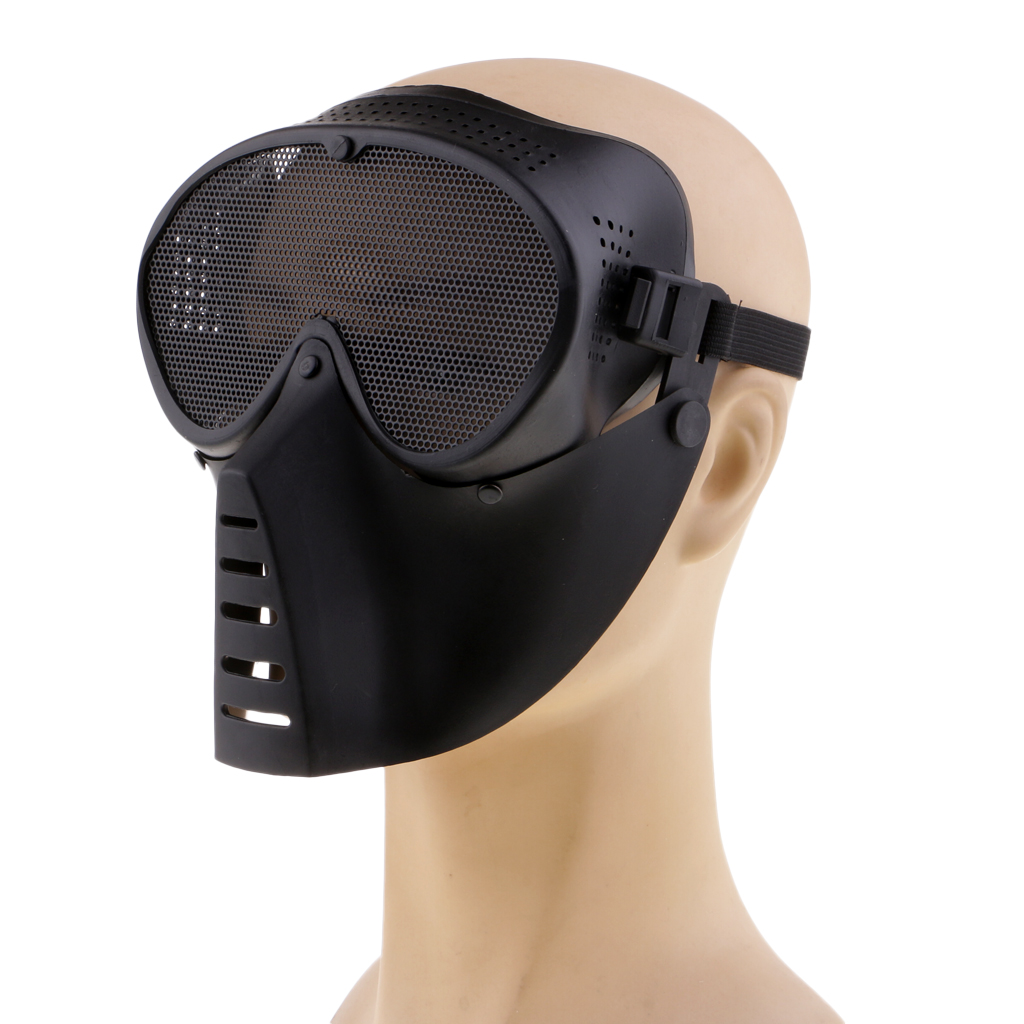 Full Face Protective Mask Metal Mesh Goggles Eye Protection For Shooting Hunting Cycling Motorcycle