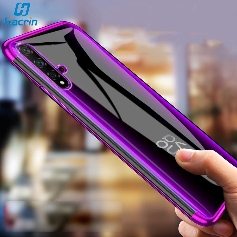 Funda de hatrin para Huawei Nova 5 T funda de TPU suave transparente con revestimiento láser transparente para Huawei Nova 5 T 5 T funda protectora parachoques