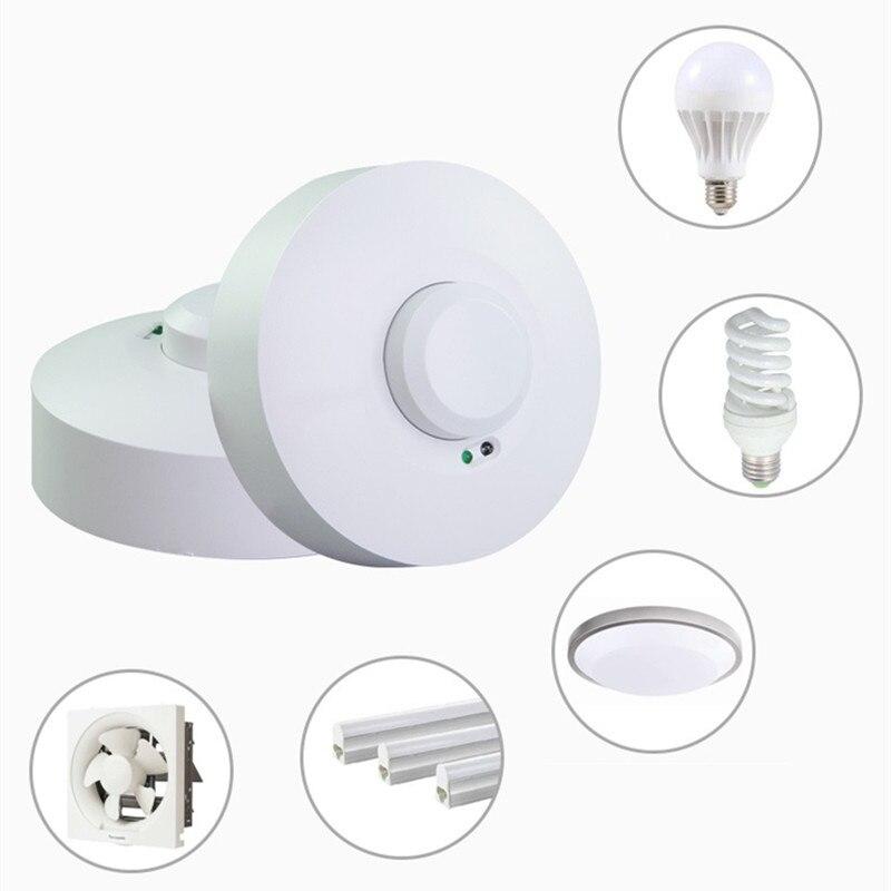 220V Microwave Radar Sensor PIR Occupancy Body Motion Detector Light Switch For LED Light LED Lamp LED Bulb LED Tube