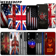 WEBBEDEPP Russian US UK flag Soft TPU Case for Xiaomi Mi 6 8 A2 Lite 9 A1 Mix 2s Max 3 F1 9T A3 Pro CC9E Cover