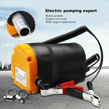 12V Car Electricity Engine Oil Pump Electric Self-suction Pump Motor Oil Diesel Extractor Scavenge Suction Transfer Change Pump oversea es 12v car oil pump oil extraction pump petrol fuel oil change pump new st car accessories