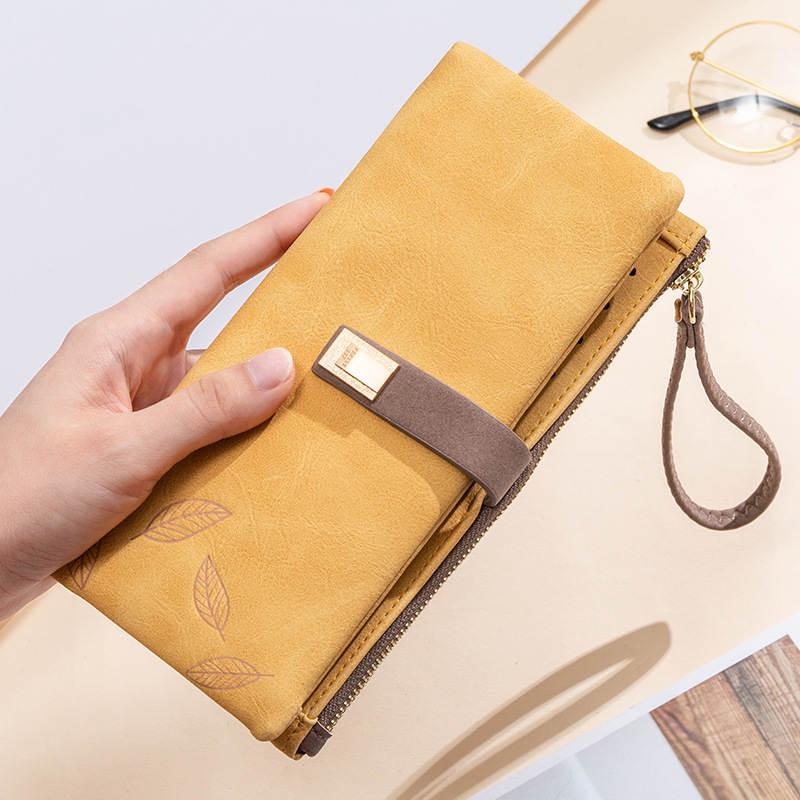 Female Purse Money-Bag Fashion Wallet Yellow Large Designer Women Big Long
